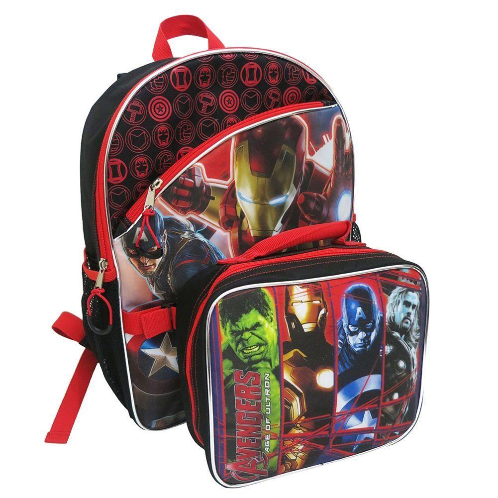 Amazon.com: Marvel Avengers Age of Ultron Backpack & Lunch Bag Set ...