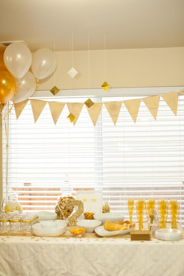 Sparkle and shine golden birthday party with really cute for 25th birthday party decoration ideas