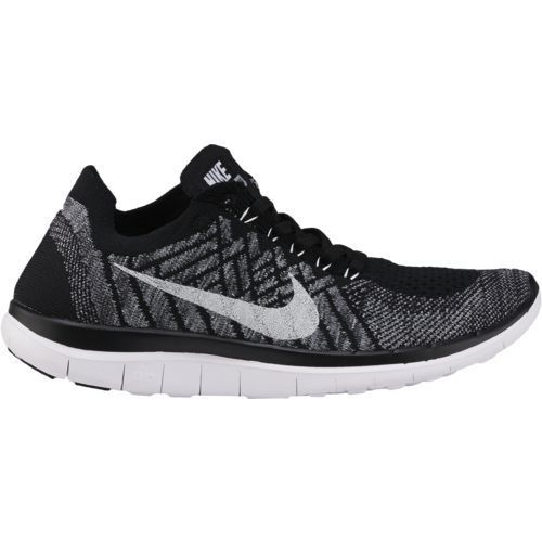 Nike Women's Free Flyknit Running Shoes (Black/White/Wolf Grey/Dark Grey,  Size - Women's Running Shoes at Academy Sports