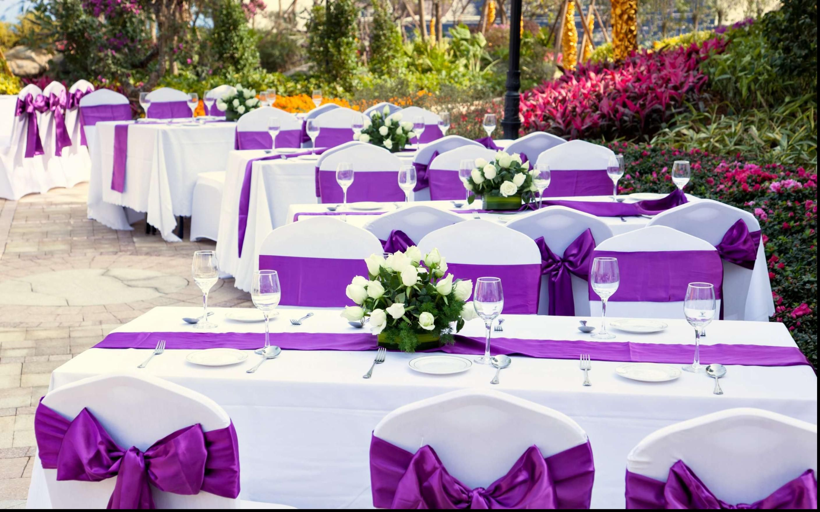 the decorations complete to bridal added this decor wedding theme couple a purple pin