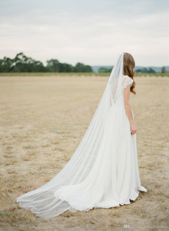 Tulle Chapel Length Bridal Veil Long Wedding Veils