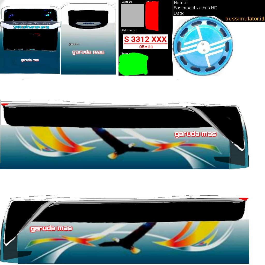 Download Kumpulan Livery Bus Simulator Indonesia dari