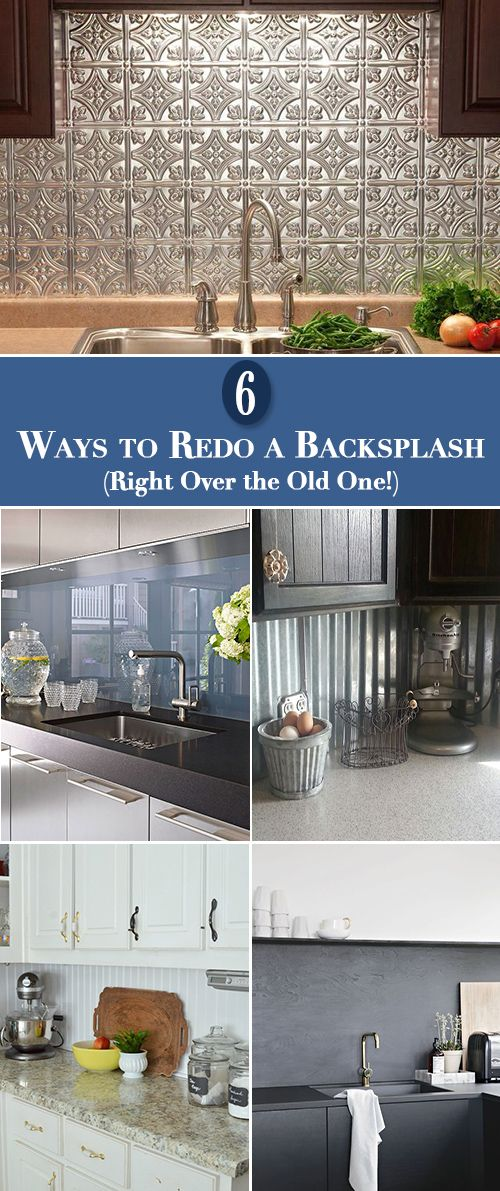 15 Kitchen Backsplash Ideas That Go Right Over Old Tile The Budget Decorator Diy Backsplash Diy Kitchen Backsplash Kitchen Redo