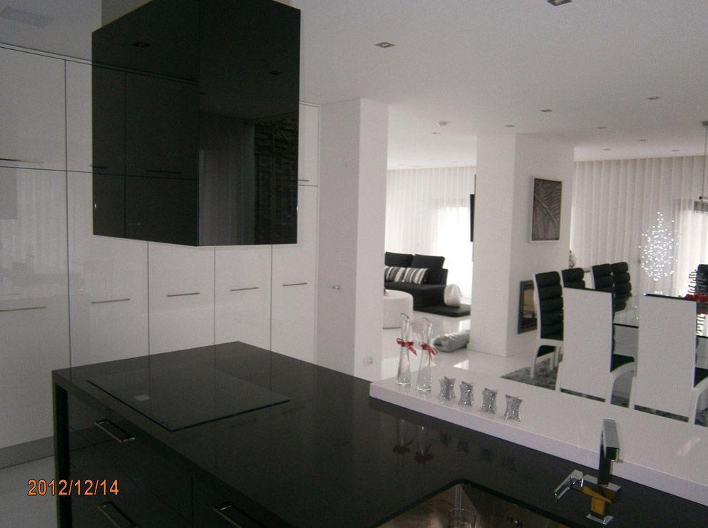 Eleganz von Schwarz und Weiß in der Küche küche aus polen Pinterest