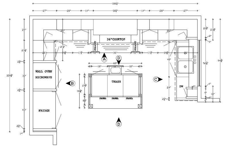 Best Most Functional Kitchen Layout Small Kitchen Design Layout 400 x 300