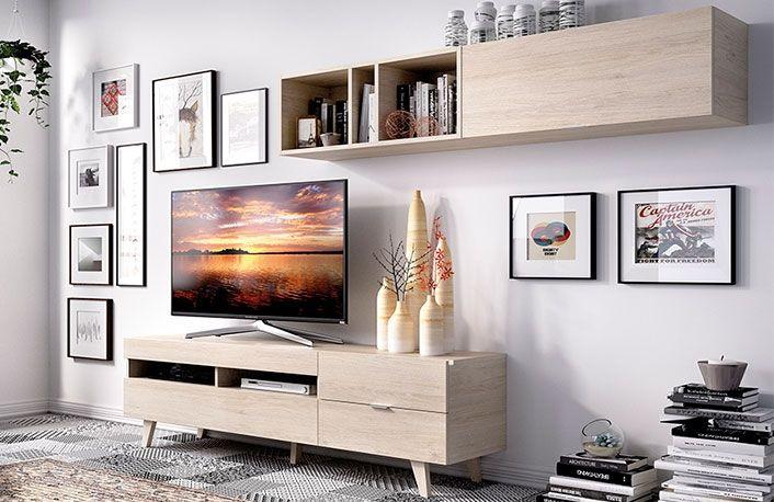 Composición 270 cm natural | tv stand | Pinterest | Salón moderno ...