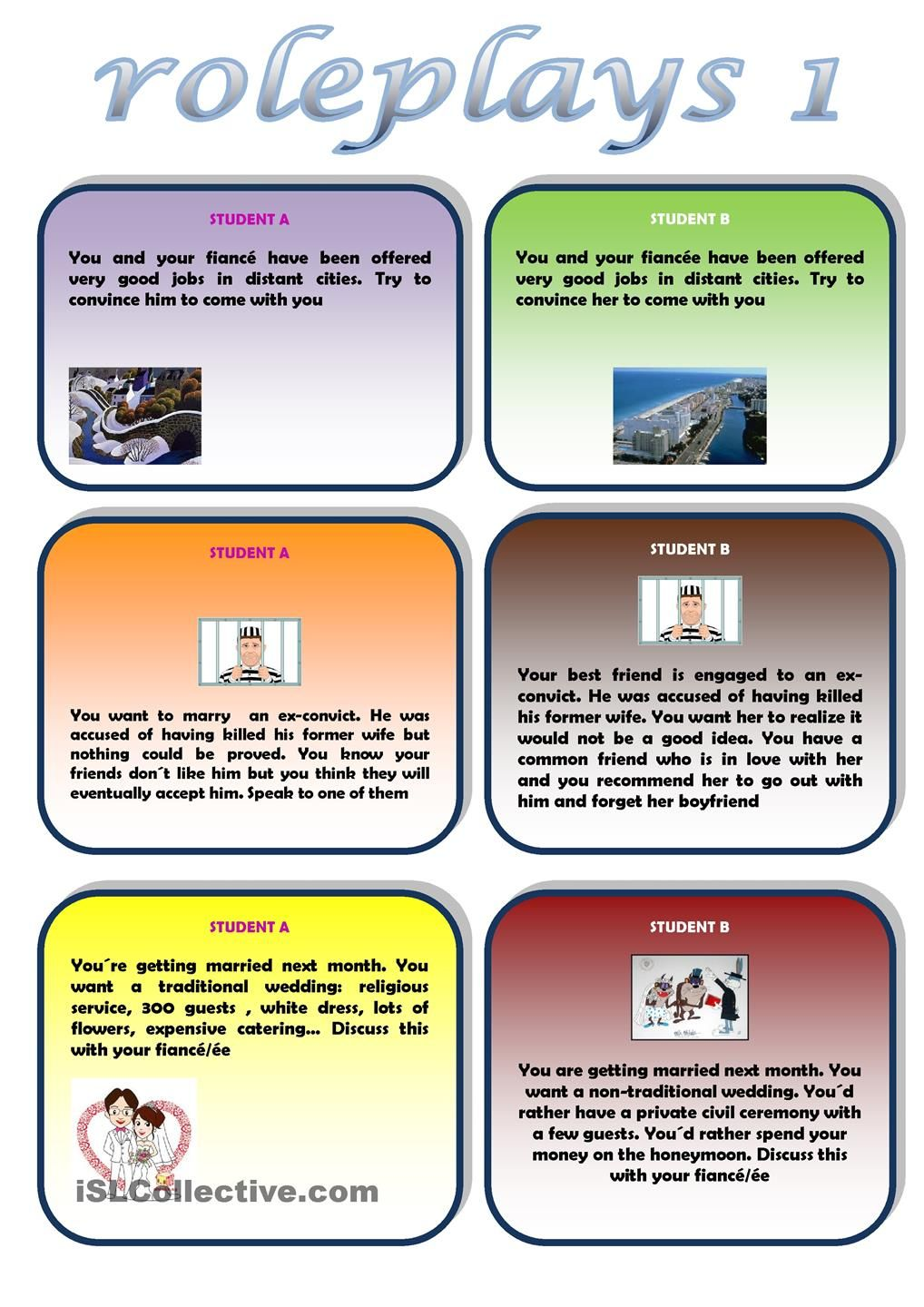 Roleplays 1 Speaking Activities English English Teaching Resources Roleplay