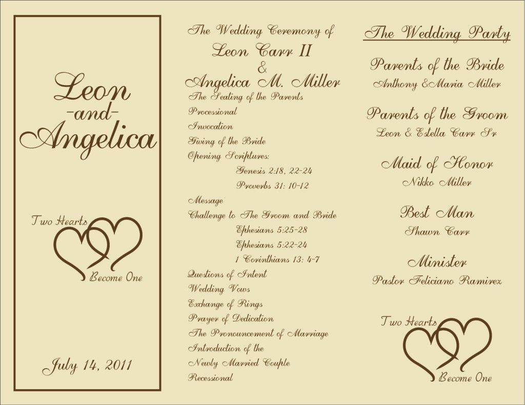 trifold wedding program wedding wedding programs wedding
