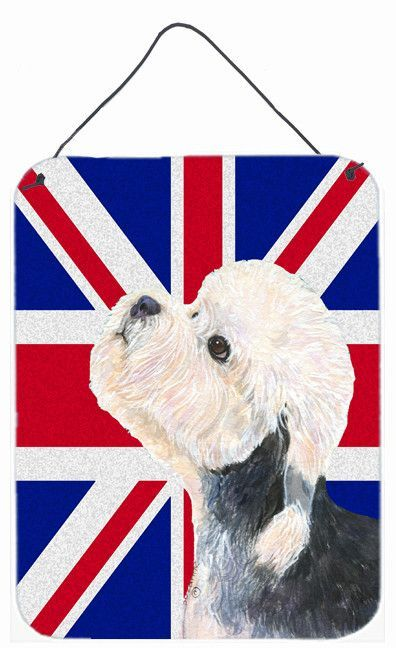 Dandie Dinmont Terrier with English Union Jack British Flag Wall or Door Hanging Prints SS4945DS1216