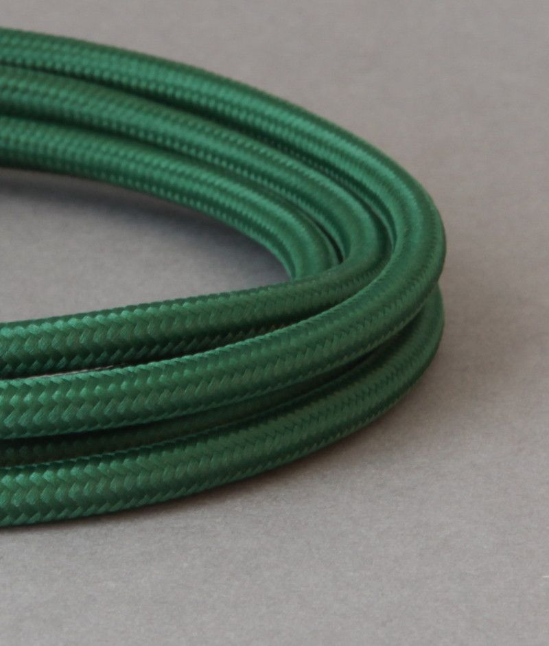 Bottle Green Fabric Cable Lighting Wire 8 Amp 3 Core | Cable, Green ...