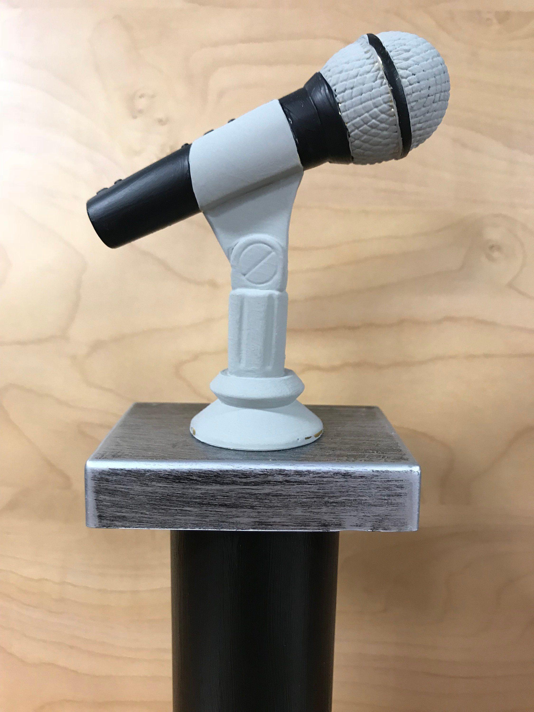 Microphone Trophy Music Karaoke Award  Free Custom Engraving