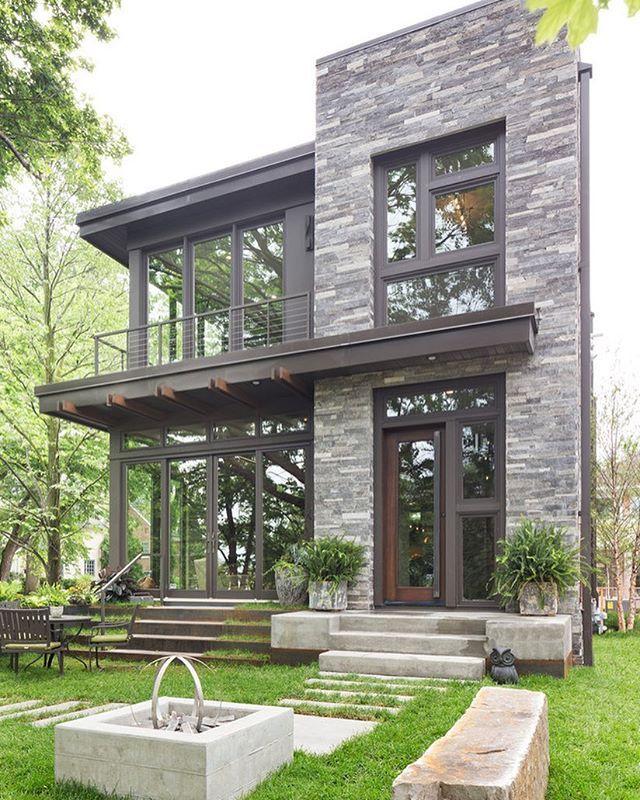 M O D E R N Architecture Modern House Design Decor Style Garden Grass Trees Greener Dream House Exterior Unique House Design House Designs Exterior