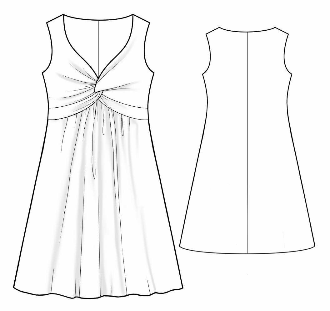 Dress With A Knot - Sewing Pattern #2022 Made-to-measure sewing ...