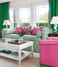 interior tropical and preppy miami guest house - Preppy Home Decor