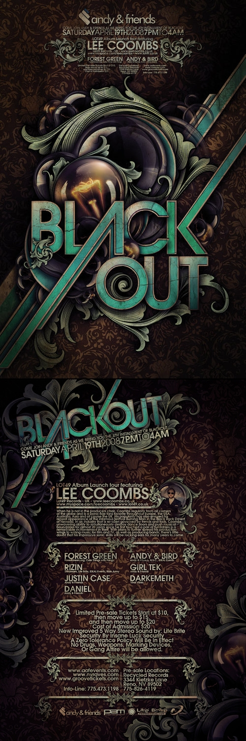 Steve Goodin→Blackout Graphic Design, Typography