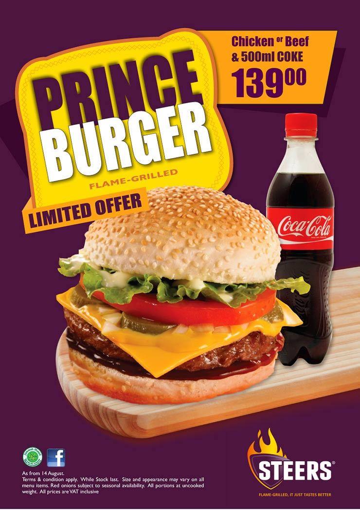 Steers Saucy Juicy Prince Burger Burger Cooking Yummy Food