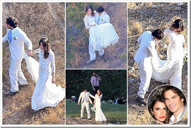 Nikki Reed Weds Ian Somerhalder Celebrity Wedding Photos Ian Somerhalder Wedding Ian And Nikki