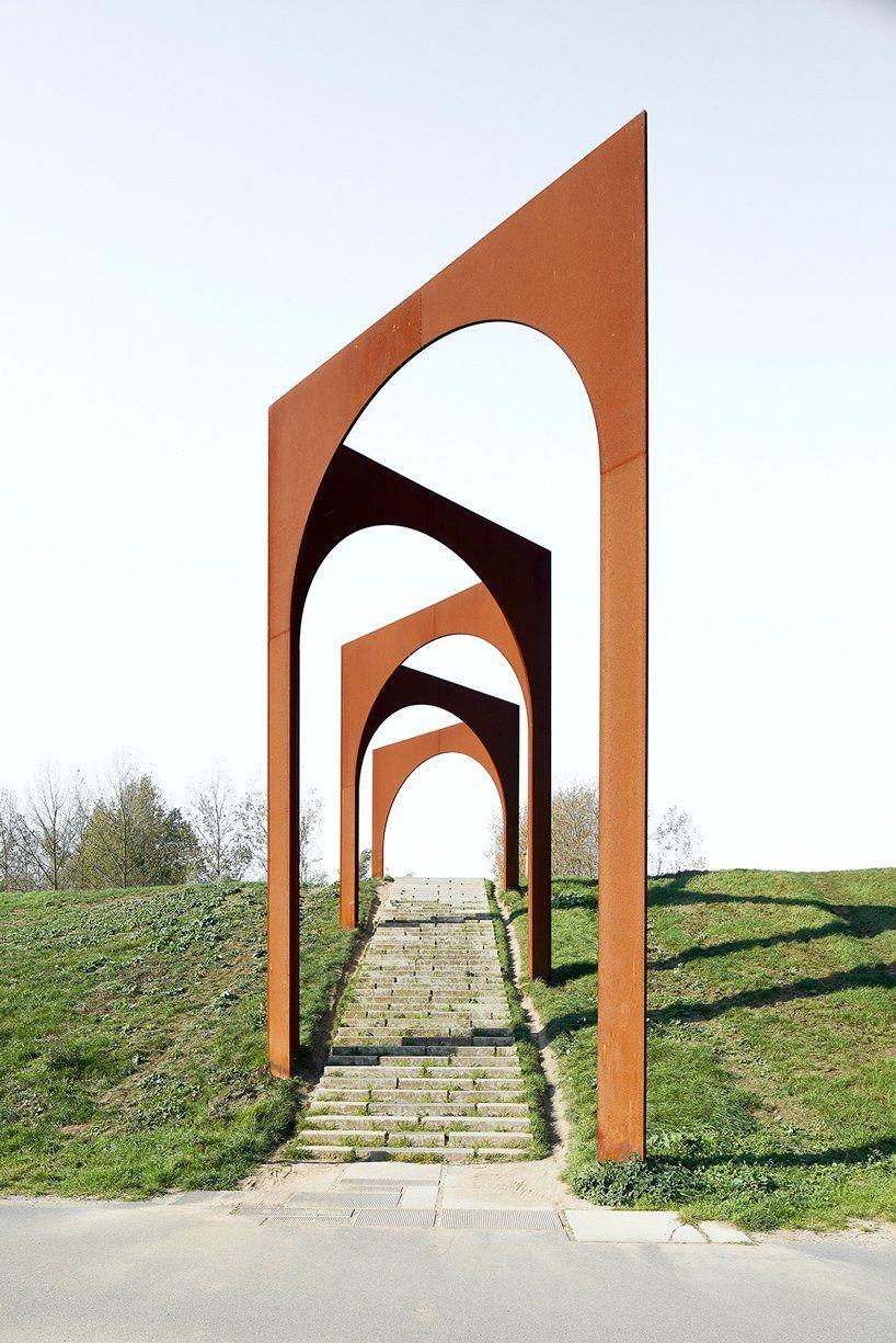 gijs van vaerenbergh arcade arrays classic arches over belgium landscape
