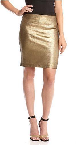 45205b9c2 Love this Karen Kane GOLD Stretch Shimmer Skirt! Chic, Comfortable,  Fashion! #Karen_Kane #KarenKane #Gold #Shimmer #Skirt #Fashion