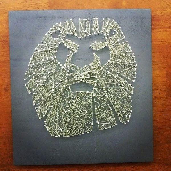 Lion String Art Crafts String Art Art Creative