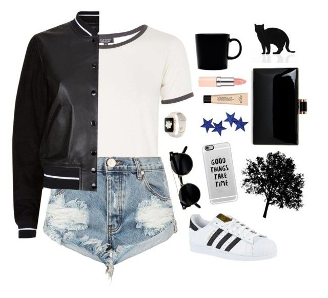 """Do you think about it?"" by the60stiedyehippie ❤ liked on Polyvore featuring Topshop, One Teaspoon, rag & bone, adidas, Casetify, iittala and 157+173 designers"