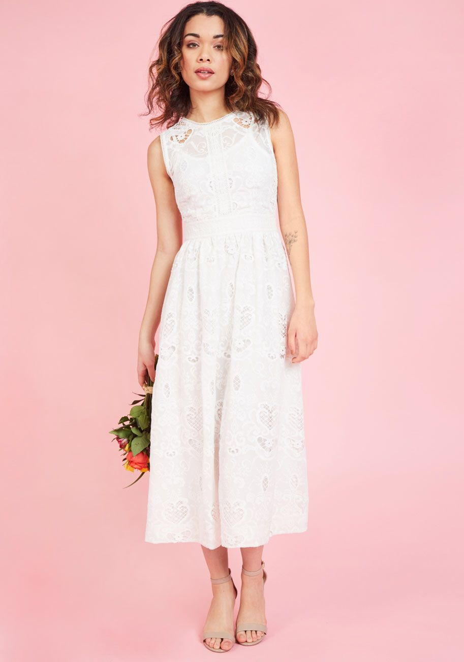 Destination Dreaming Midi Dress in Ivory, #ModCloth | Fashion ...