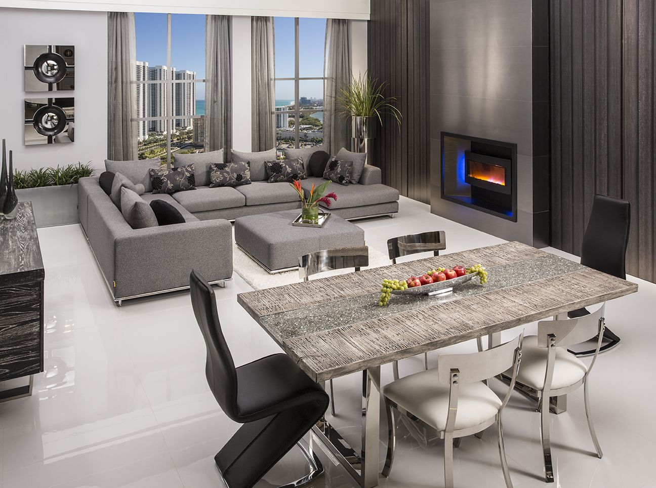 """About Skyscraper Dining Table Features 87"""" Rectangular Wood Table Best Dining And Living Room Sets Decorating Inspiration"""