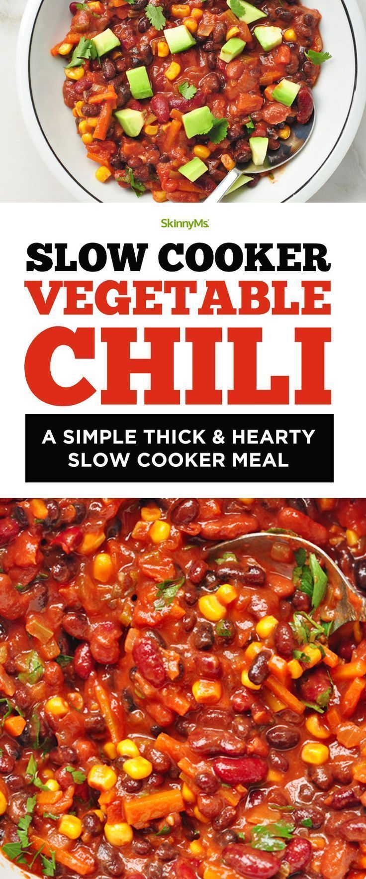 Slow Cooker Vegetable Chili A Simple Thick Hearty Slow Cooker Meal