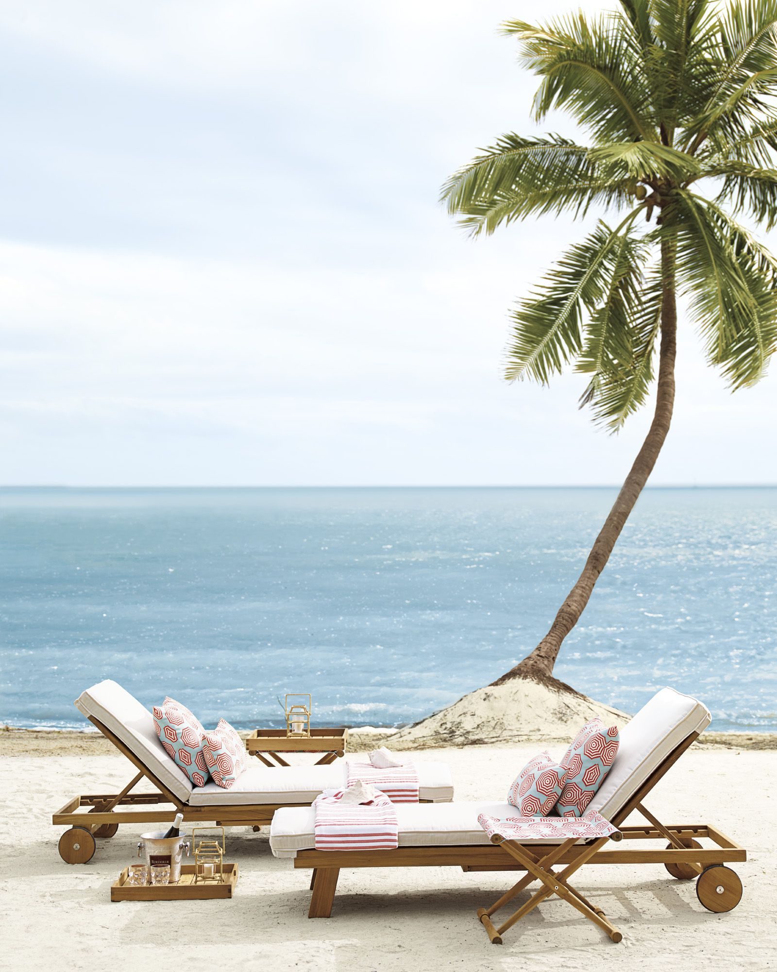 Crosby Teak Chaise: The Perfect Outdoor Chair Customize The Look With  Removable Sunbrella®