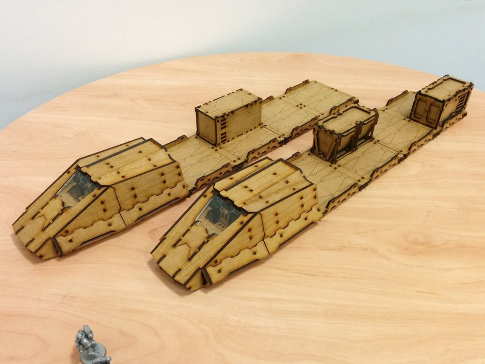 Terrakami Games, MagLev Train MKII kit designed for use with sci-fi