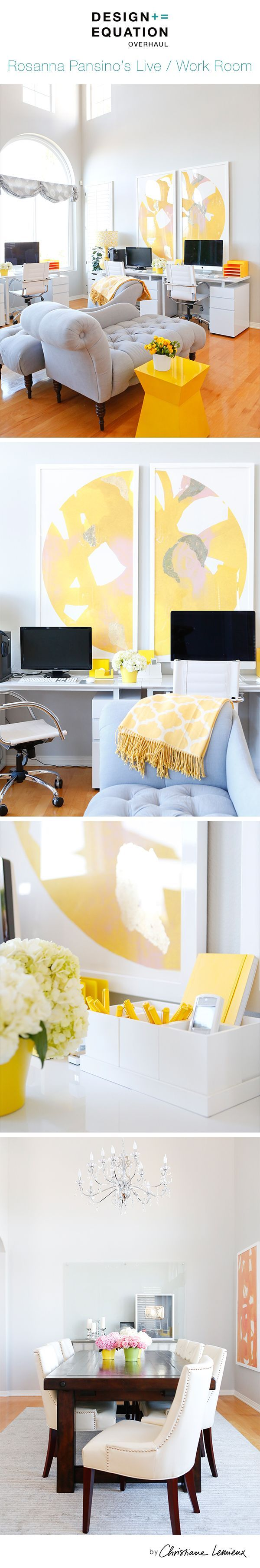 Yellow Office Decor. Excellent White Wall With Window And Bali ...