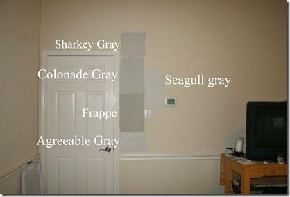 Gray Paint Comparison Sharkey Gray Collonade Gray