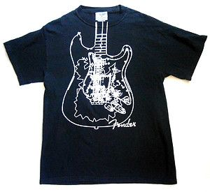 Mens Size M Fender Guitar Shirt, Fender Brand, The Rock & Roll Lifestyle, VGC. $3.99