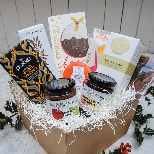 CHRISTMAS CHEER   luxury hamper — The Pickled Shop - What could bring a sense of Christmas cheer better than a whopping great box of goodies handpicked to get you in a jolly festive mood.   #christmas #christmasgifts #christmasgiftsforher #christmasgiftsforhim #christmaslove #xmas #xmasgifts #christmaspresents #christmashamper #hamper #giftbox #pickles #preserves #cheese #cheeselover #cheeseandbiscuits #cheeseboard #giftsforher #giftsforhim #gifts #thoughtfulgifts #christmasjoy