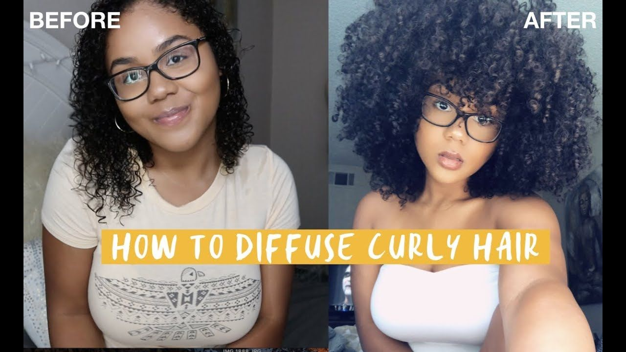HOW TO DIFFUSE CURLY HAIR Achieving Volume YouTube