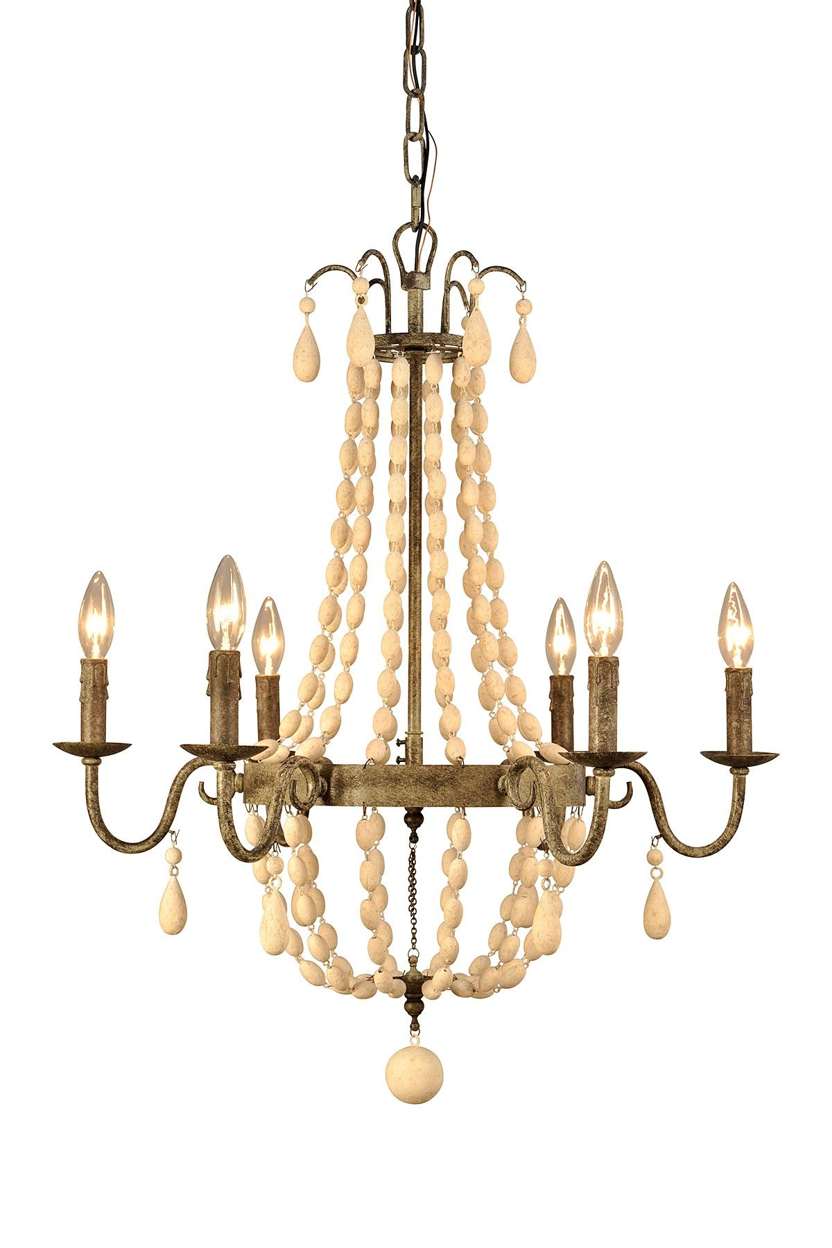 Iron Frame Chandelier on HauteLook Home Pinterest
