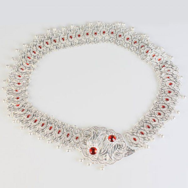 Chic Faux Ruby and Pendant Embellished Women's Alloy Waistband #jewelry, #women, #men, #hats, #watches, #belts, #fashion