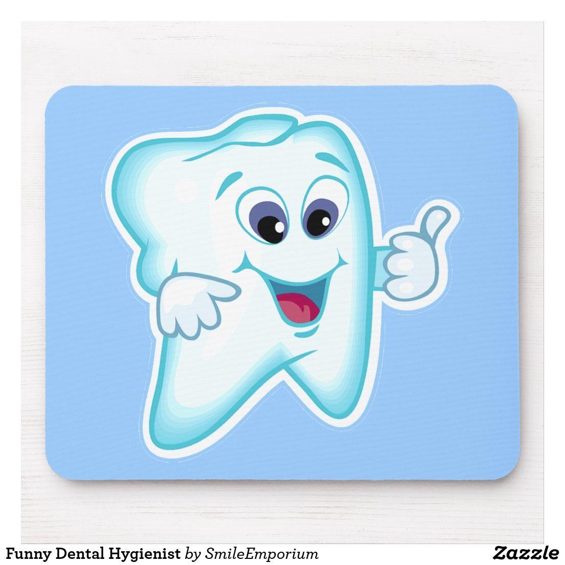 Funny Dental Hygienist Mouse Pad Dental