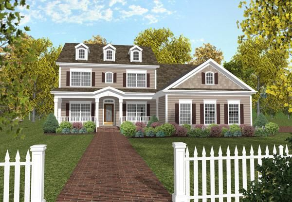 House Plan 036 00104 Colonial Plan 2 234 Square Feet 4 Bedrooms 3 Bathrooms Colonial House Plans Country Style House Plans Colonial House