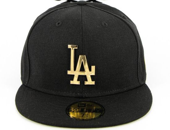 La Dodgers Plate Metal 59fifty Fitted Cap By New Era X Mlb Hats For Men Cap Best Caps
