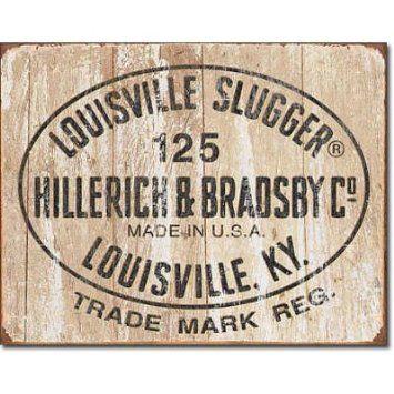 Louisville Slugger Logo Signs Vintage Retro Baseball