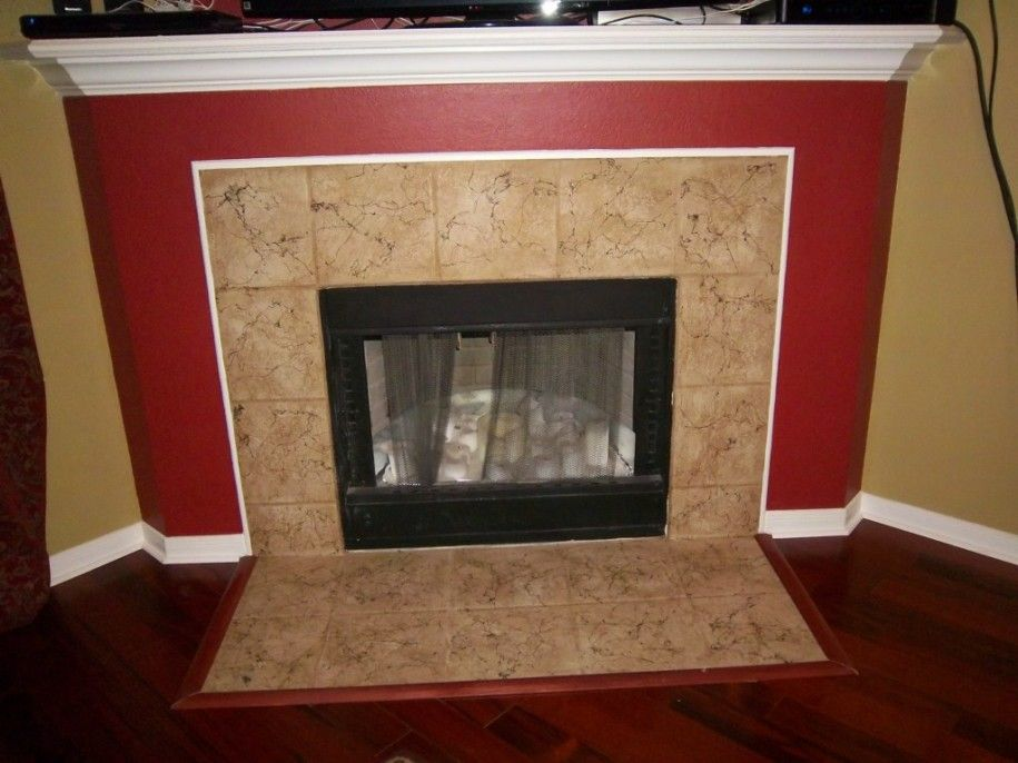 Lovely Painting Tile around Fireplace Awesome Marble Tile Around
