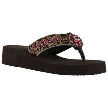 14598ae51 Shyanne® Women s Leopard Hair on Hide Wedge Sandals