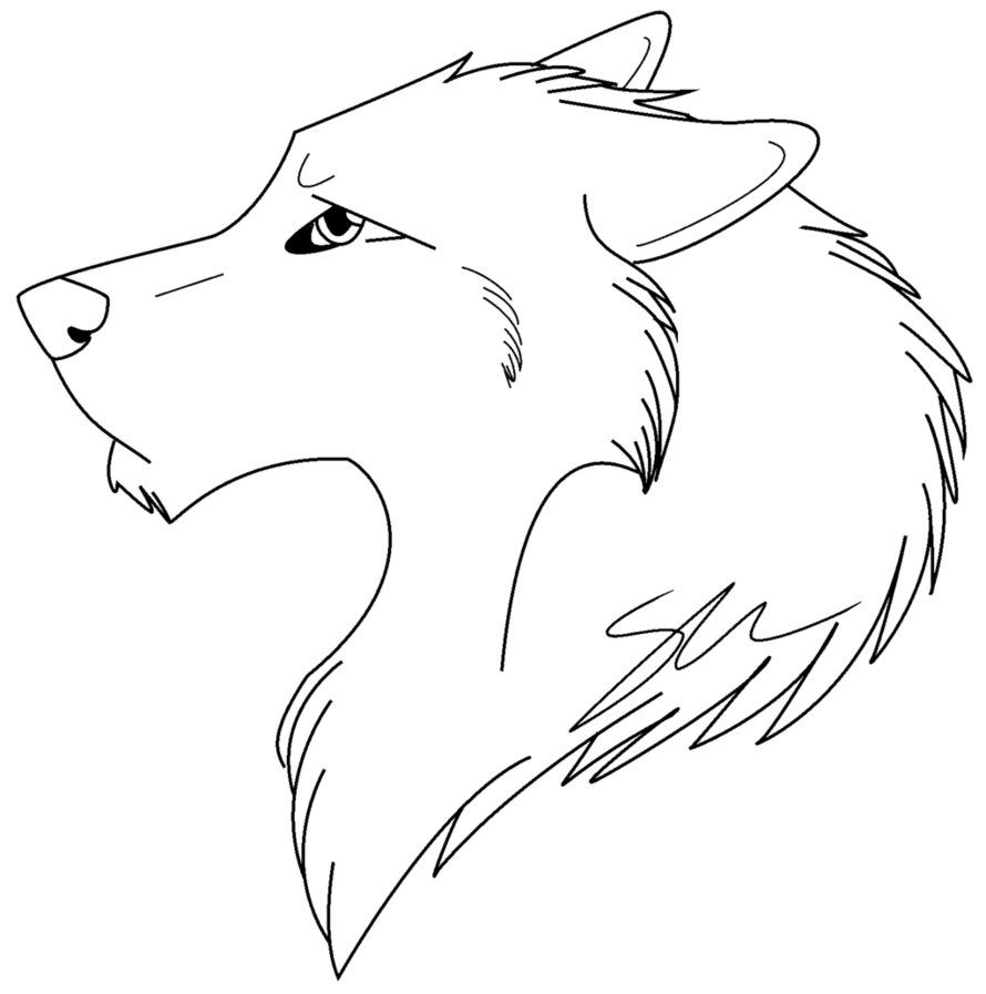 anime wolf coloring pages # 2