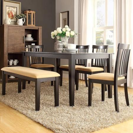 Swell Lexington 6 Piece Dining Table Set With Mission Back Chairs Alphanode Cool Chair Designs And Ideas Alphanodeonline