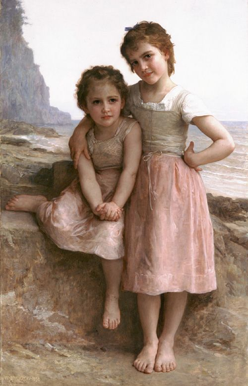 William-Adolphe Bouguereau, French painter (1825-1905). 'On the Rocky Beach' (c.1896)