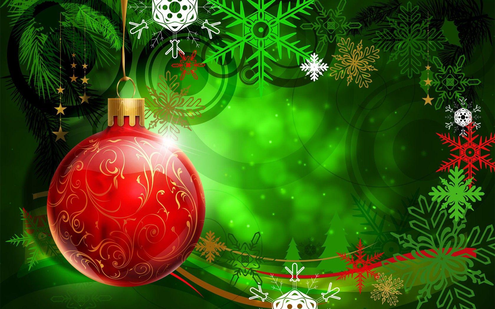 fondos hd verde con bolita roja 1680x1050 - fondo hd # | navidad