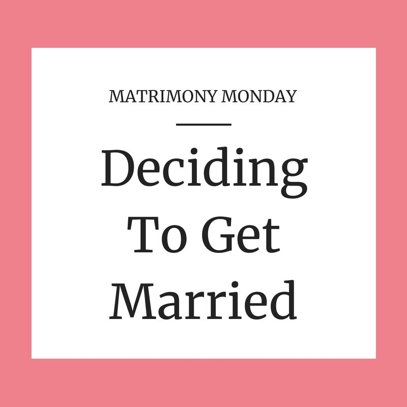 Getting married after months dating