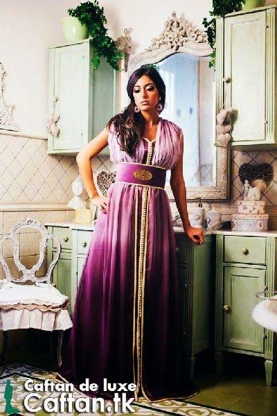 Caftan haute couture mauve clair 2014 | nadia kaftan | Pinterest ...