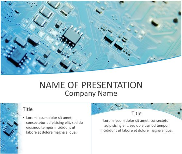 Printed Circuit Board PowerPoint Template Computer and Technology